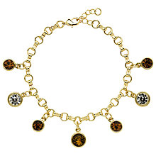 Buy Monet Champagne Crystal Charm Bracelet, Gold Topaz Online at johnlewis.com