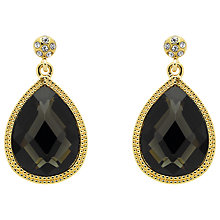 Buy Monet Jet Crystal Teardrop Earrings Online at johnlewis.com