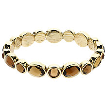 Buy Monet Gold Plated Stretch Bracelet, Gold Topaz Online at johnlewis.com