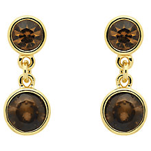 Buy Monet Champagne Crystal Drop Earrings, Gold Topaz Online at johnlewis.com