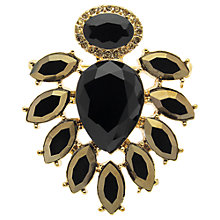 Buy Monet Teardrop Brooch, Gold/Black Online at johnlewis.com