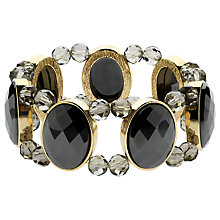Buy Monet Hematite Stretch Bracelet, Gold Online at johnlewis.com