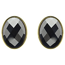Buy Monet Hematite Oval Stud Earrings, Gold Online at johnlewis.com