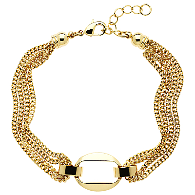 Monet Chain Open Oval Bracelet, Gold