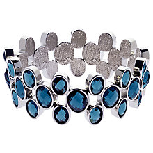 Buy Monet Faceted Crystal Stretch Bracelet, Silver/Blue Online at johnlewis.com