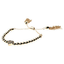 Buy Adele Marie Beaded Heart Pendant Charm Bracelet Online at johnlewis.com