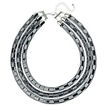 Buy Adele Marie Three Row Box Chain Mesh Necklace, Silver Online at johnlewis.com
