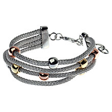 Buy Adele Marie Tri Colour Bead Rhodium Mesh Bracelet, Silver Online at johnlewis.com