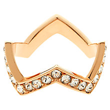 Buy Melissa Odabash Swarovski Crystal Zigzag Ring Online at johnlewis.com
