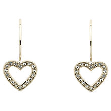 Buy Melissa Odabash Swarovski Crystal Hook Heart Drop Earrings Online at johnlewis.com