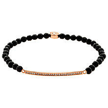 Buy Melissa Odabash Swarovski Crystal Bar and Onyx Bead Stretch Bracelet Online at johnlewis.com