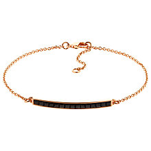 Buy Melissa Odabash Rose Gold Plated Swarovski Crystal Bar Bracelet, Rose Gold/Black Online at johnlewis.com