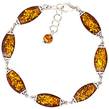 Buy Be-Jewelled Cognac Sterling Silver Bracelet, Amber Online at johnlewis.com