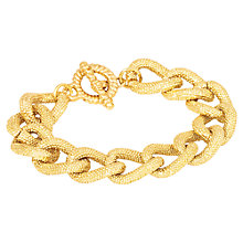 Buy Adele Marie Textured Chunky Link Bracelet, Gold Online at johnlewis.com