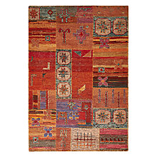 Buy John Lewis Belize Patch Rug, Rust Online at johnlewis.com