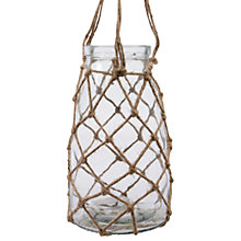 Buy Decoris Glass Planter In Rope Hanger Online at johnlewis.com