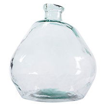 Buy Decoris Wobble Glass Bottle Vase, Blue Online at johnlewis.com
