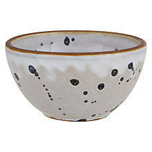 Buy Decoris Terracotta Bowl, White/Blue Online at johnlewis.com