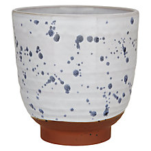 Buy Decoris Terracotta Planter, White/Blue Online at johnlewis.com