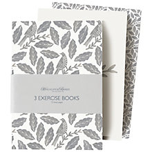 Buy Hinchcliffe & Barber Songbird Grey Notebooks, Set of 3 Online at johnlewis.com