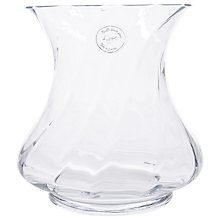 Buy Decoris Optic Glass Vase Online at johnlewis.com