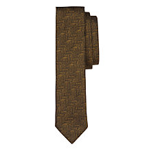 Buy Ted Baker Fetterz Silk Tie, Mustard Online at johnlewis.com