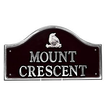 Buy The House Nameplate Company Personalised Polished Aluminium Bridge House Sign, Bird Motif, Small Online at johnlewis.com