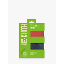Buy e-cloth Granite Cleaning Cloths, Pack of 2 Online at johnlewis.com