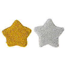 Buy Vigar Christmas Cleaning Sponge, 2x Stars, Gold & Silver Online at johnlewis.com