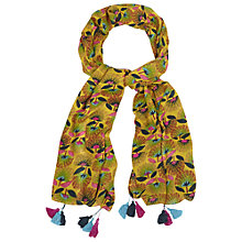 Buy White Stuff Fan Floral Scarf, Yellow/Green Online at johnlewis.com