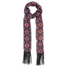 Buy Oasis Skinny Tamara Fringed Scarf, Multi Online at johnlewis.com
