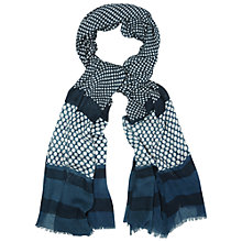 Buy White Stuff Patchwork Spot Scarf, Teal Online at johnlewis.com