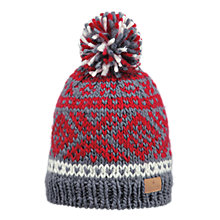 Buy Barts Log Cabin Beanie Hat, One Size, Red Online at johnlewis.com