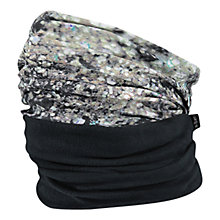 Buy Barts Glitter Print Polar Snood, One Size, Black/Silver Online at johnlewis.com