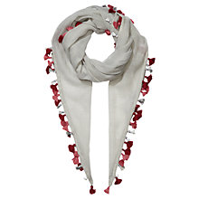 Buy Jigsaw Junior Mini Tassel Scarf, Grey Online at johnlewis.com
