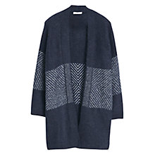 Buy Mango Flecked Panels Cardigan, Navy Online at johnlewis.com