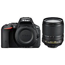 "Buy Nikon D5500 Digital SLR Camera with 18-105mm VR Lens, HD 1080p, 24MP, Wi-Fi, 3"" Touch LCD Display, Black Online at johnlewis.com"