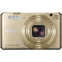 "Buy Nikon COOLPIX S7000 Digital Camera, 16MP, HD 1080p, 20x Optical Zoom, Wi-Fi, NFC, 3"" LCD Screen Online at johnlewis.com"