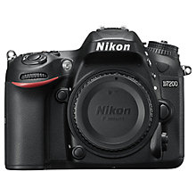 "Buy Nikon D7200 DSLR Camera, 24.2 MP, HD 1080p, Built-in Wi-Fi, NFC, 3"" LCD Screen, Body Only Online at johnlewis.com"