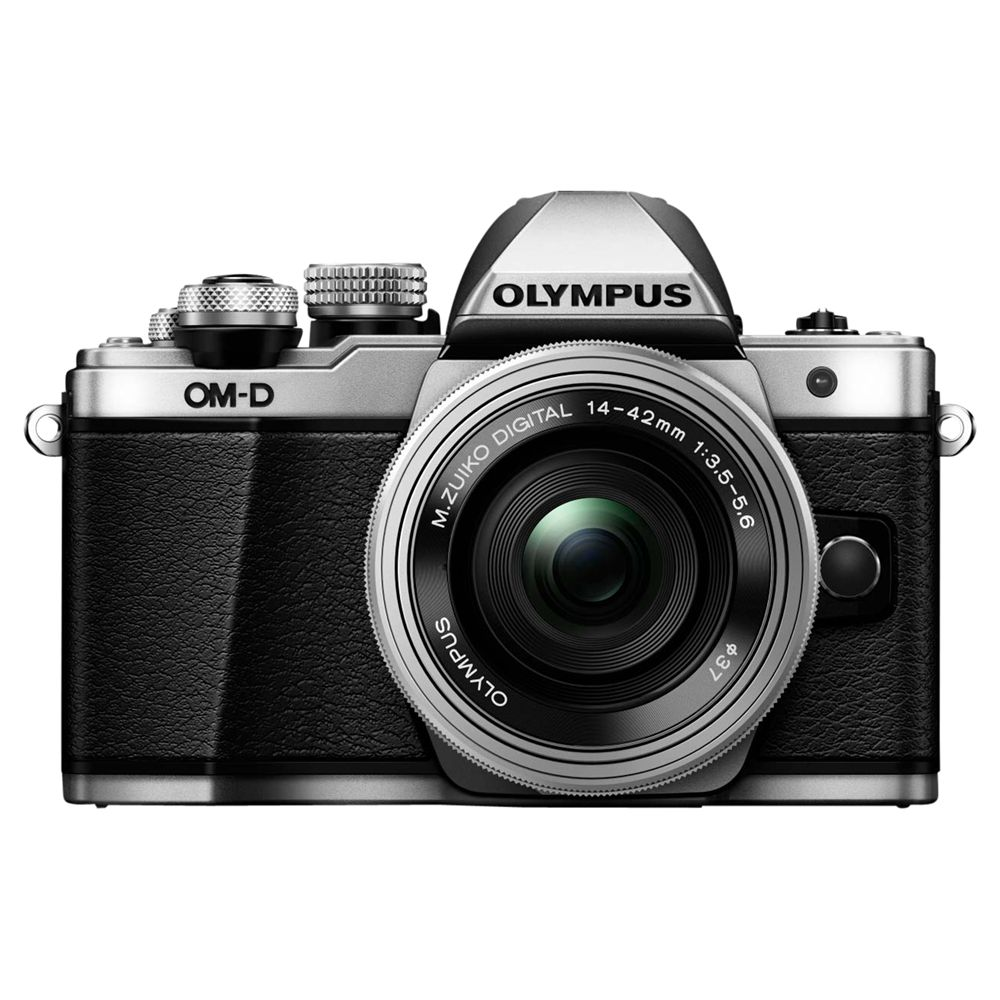"Olympus Olympus OM-D E-M10 Mark II Compact System Camera with 14-42mm EZ Lens, HD 1080p, 16.1MP, Wi-Fi, OLED EVF, 3"" LCD Touch Screen, Silver"