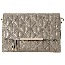 Buy Dune Emeni Quilted Clutch Bag, Pewter Online at johnlewis.com