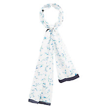 Buy Viyella Bluebell Print Scarf, White/Blue Online at johnlewis.com