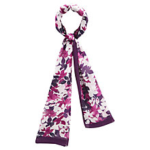Buy Viyella Leaf Print Scarf, Grape Online at johnlewis.com