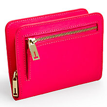 Buy Ted Baker Perlow Small Leather Pop Out Purse, Bright Pink Online at johnlewis.com