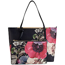 Buy Ted Baker Nenaa Crosshatch Neon Poppy Shopper Bag, Navy Online at johnlewis.com