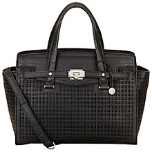 Buy Fiorelli Luella Large Cutout Grab Bag, Black Online at johnlewis.com