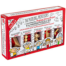 Buy Professor Puzzle Problem Solving Project, 5x Wooden Puzzles Online at johnlewis.com