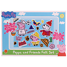 Buy Peppa Pig Peppa and Friends Felt Set Online at johnlewis.com