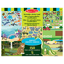 Buy Melissa & Doug Habitats Reusable Sticker Pad Online at johnlewis.com