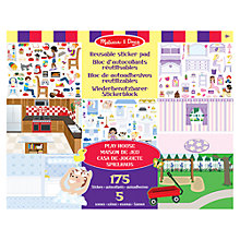 Buy Melissa & Doug Playhouse Sticker Pad Online at johnlewis.com